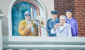 Carnegie Medal awardee in large mural