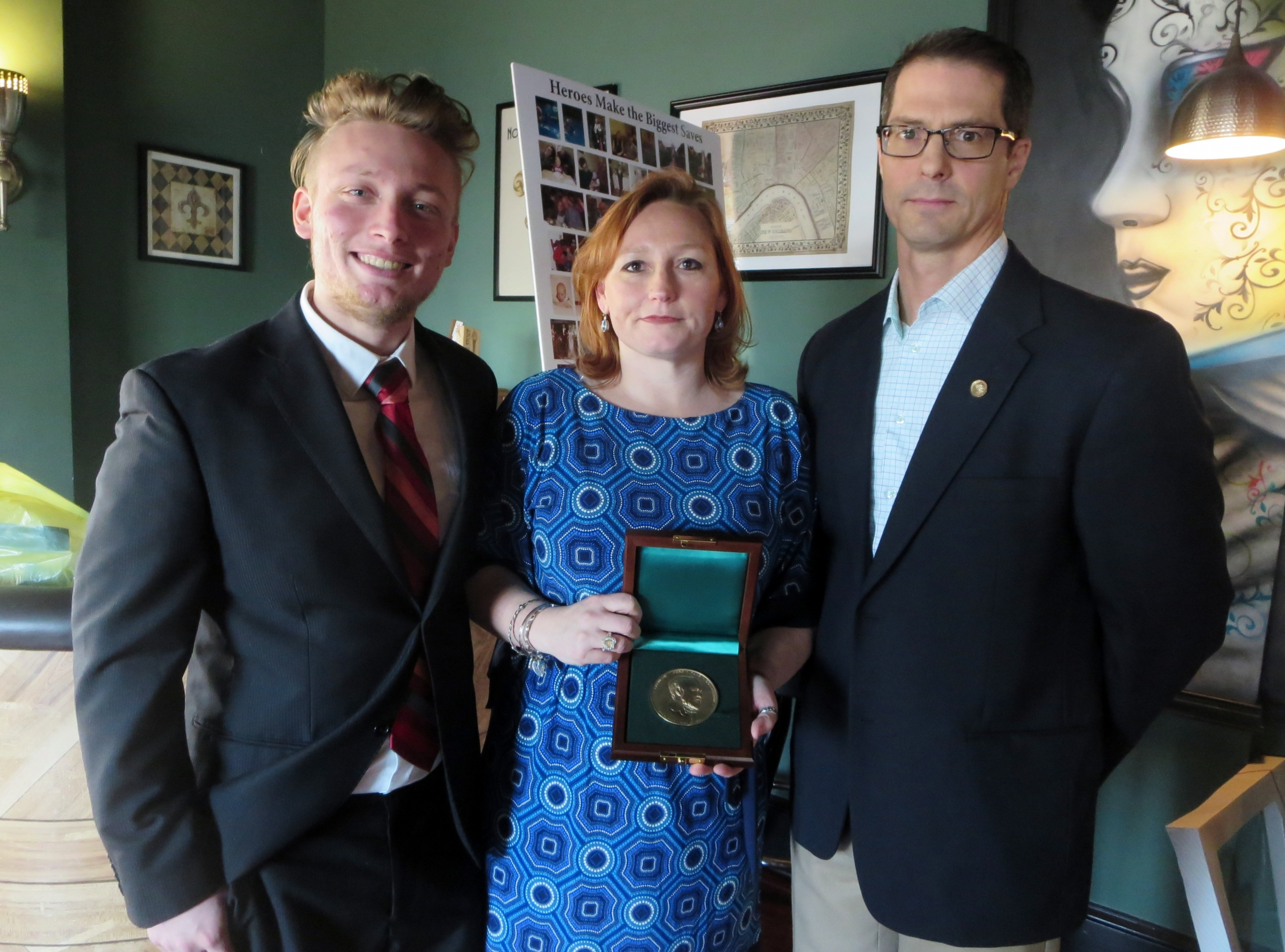 Carnegie Medal presentation to Michael J. Manley