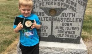 Louis G. Burkhalter grave marker