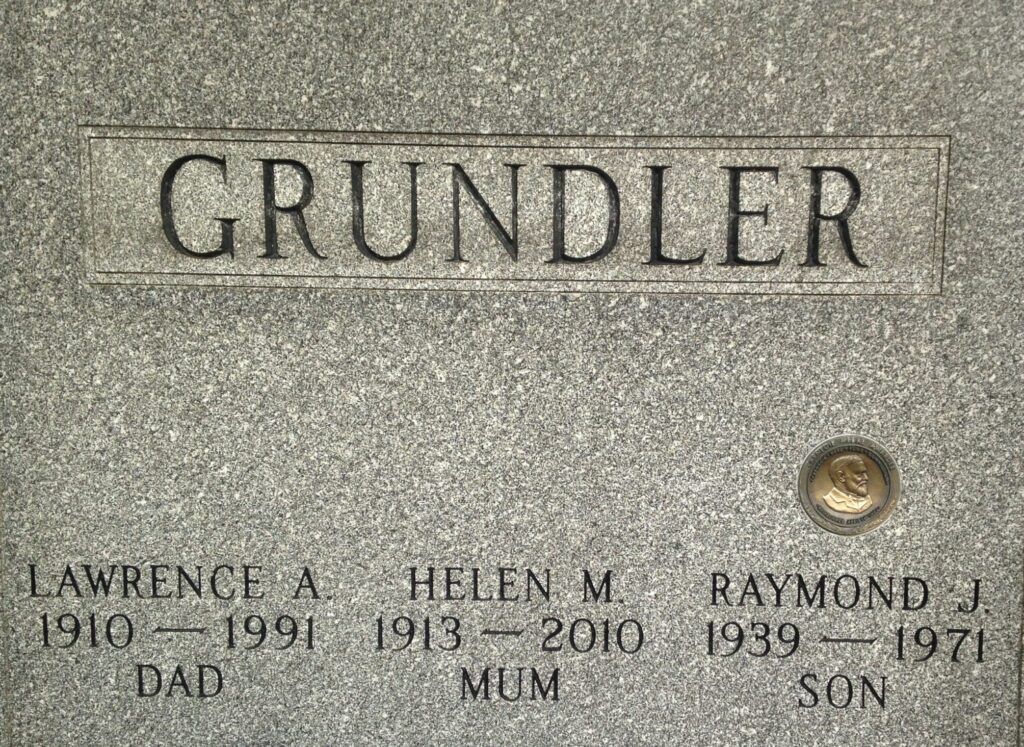 Raymond J. Grundler headstone